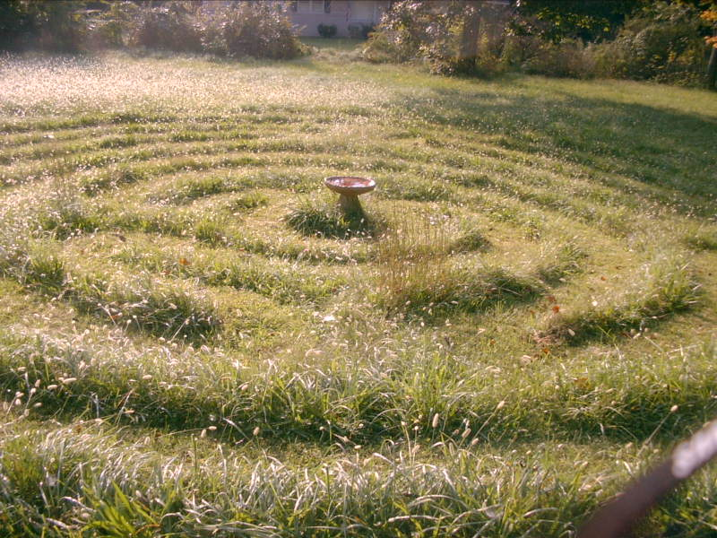Grass labyrinth
