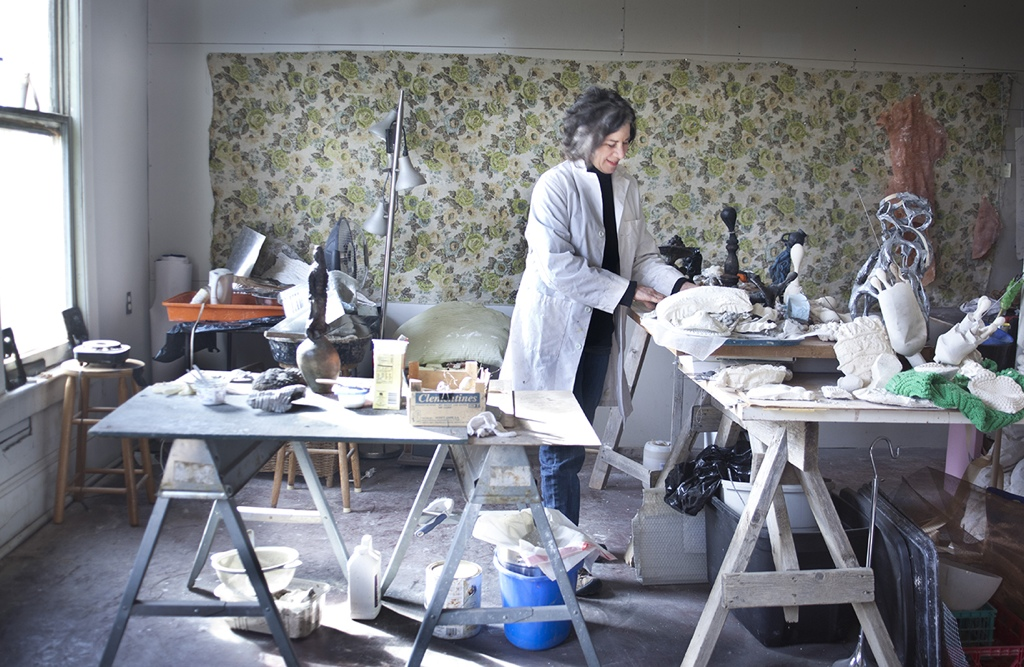 Portrait of the artist as a young doc, in her winter studio, 2012.